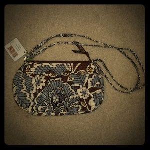 Vera Bradley Frannie Slate Blooms Small Handbag